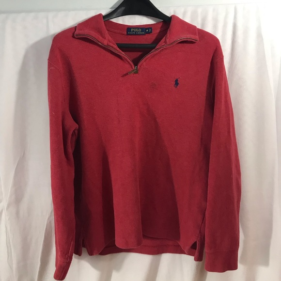Polo by Ralph Lauren Other - Polo Ralph Lauren Vintage Quarter Zip Pullover Red